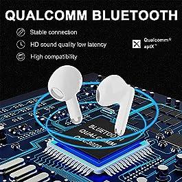Bluetooth Headphones Bluetooth 5.2 Earbuds Noise Cancelling Headphones with 4 Microphones in Ear Earpods Waterproof…