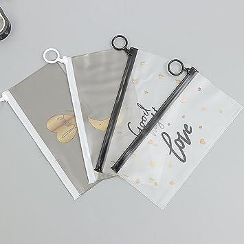 ENCOCO Bolsas para archivadores con cremallera, impermeables, de PVC, bolsas para archivos, bolsas de factura, bolsa para billetes, estuche para bolígrafos: ...