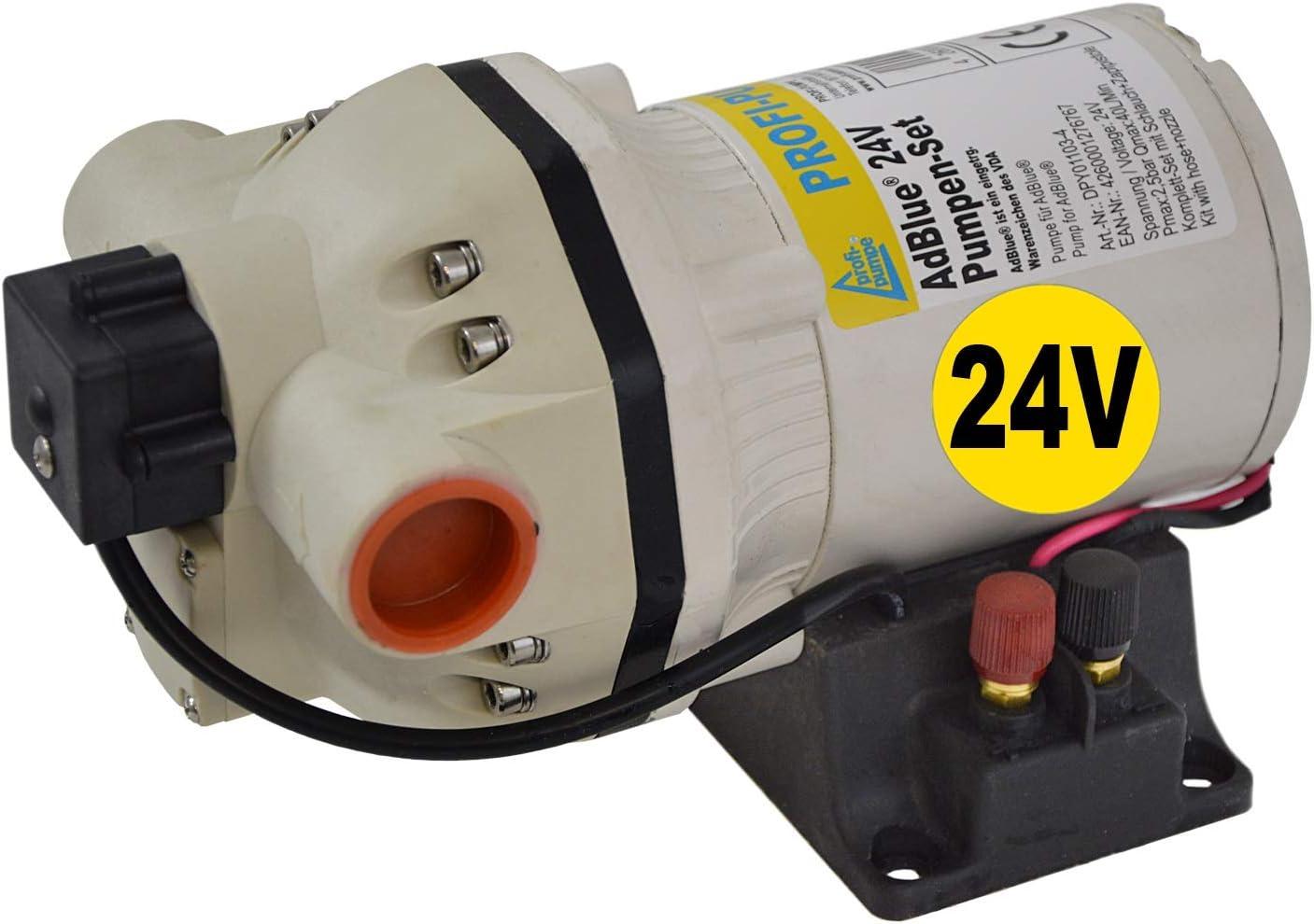 Bomba AdBlue® - Bomba de urea 24V - Bomba de diafragma - Bomba química - con Motor eléctrico autocebante de gran potencia con bobinado de cobre con un ahorro adicional!