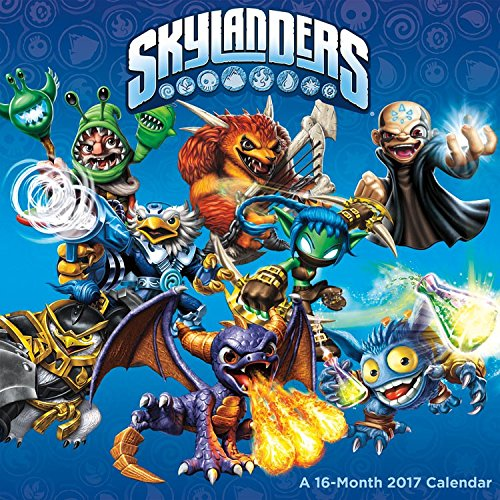 "Trends International 2017 Wall Calendar, September 2016 - December 2017, 11.5"" x 11.5"", Skylanders"