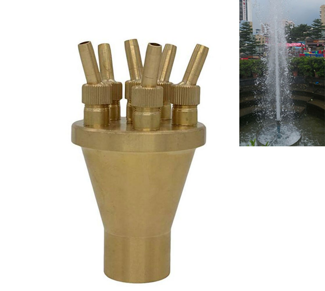Thaoya Brass Column Garden Square Fireworks Pool Pond Adjustable Fountain Nozzle Sprinkler Spray Head SSH332 (2.0'') by Thaoya
