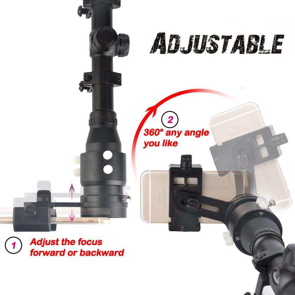 Landove Rifle Scope Smartphone Mounting System Smart Shoot Scope Mount Adapter
