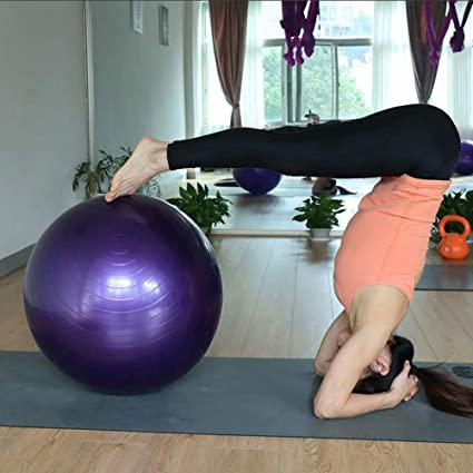 YANGHUI Yoga Gleichgewicht Fitnessball f/ür Pilates Stuhl Fitness Stabilit?ts Schwangerschafts/übungen,Yoga Ball mit Pumpe Anti-Burst Fitness Balance Ball f/ür Core Strength R/ücken/übungen-Pink 25cm