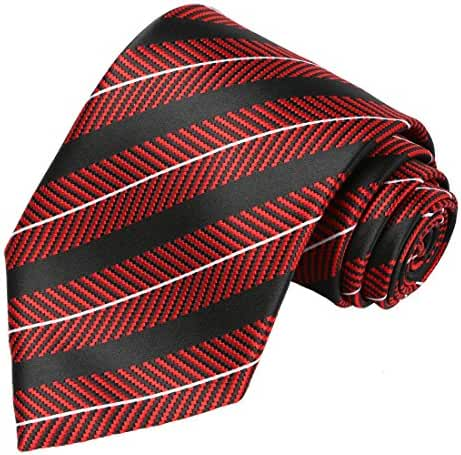 KissTies Mens Extra Long Tie Striped Pattern Necktie + Gift Box (63'' XL)