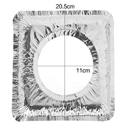SELUXU 10pcs papel de aluminio resistente a la temperatura cubre estufa de gas aluminio antiincrustante aceite