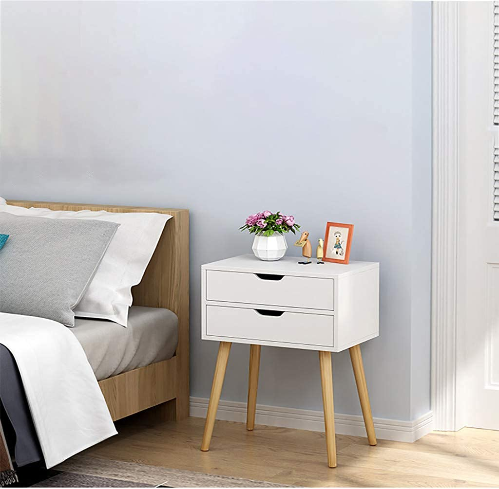 Fullyday Nightstand with Drawer, Assemble Storage Cabinet, 1or 2 Drawer, Bedside Table for Bedroom, Ship from USA