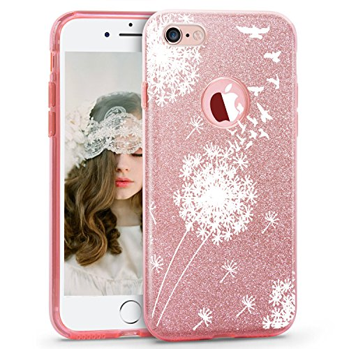 iPhone 7 Plus Case Bling Glitter Sparkle Hard PC Back Soft TPU Inner Shell Skin for iPhone 7 Plus (7, iPhone 7 Plus)