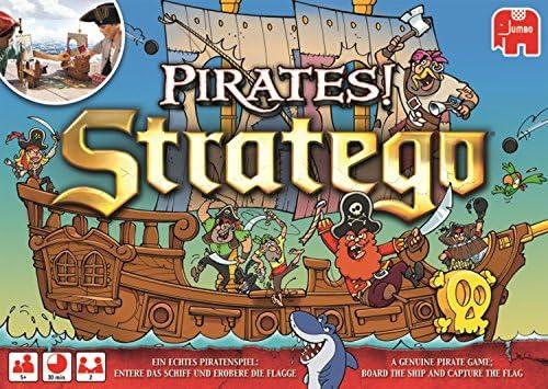 Stratego Pirates! Niños Juego de Mesa de Carreras - Juego de Tablero (Juego de Mesa de Carreras, Niños, 30 min, Niño/niña, 5 año(s), Alemán, Inglés): Amazon.es: Juguetes y juegos