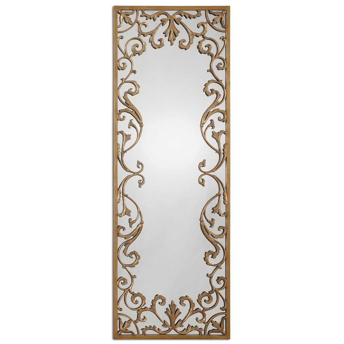 amazoncom uttermost apricena decorative mirror gold home u0026 kitchen