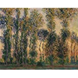 Canvas Prints Of Oil Painting ' Claude Monet,Poplars At Giverny, 1887 ' , 8 x 10 inch / 20 x 26 cm , High Quality Polyster Canvas Is For Gifts And Foyer, Home Office And Kitchen Decoration, affordable