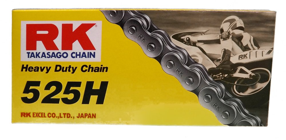 110-Links Standard Non O-Ring Chain with Connecting Link 525 Series RK Racing Chain M525HD-110