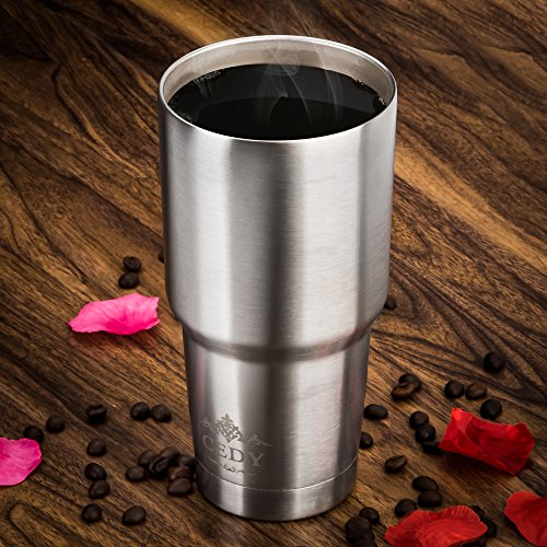 46e53109174 30 oz Stainless Steel Vacuum Insulated Tumbler with Lid, - Import It All
