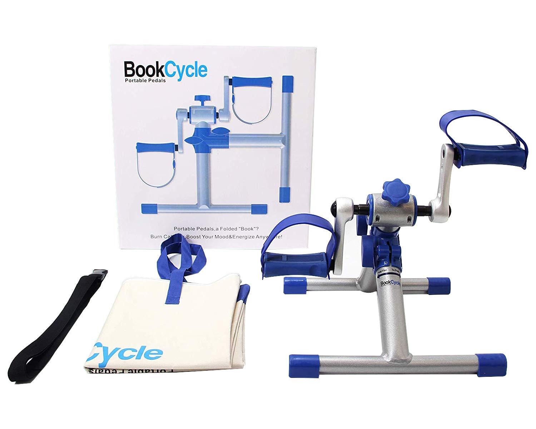 BookCycle Mini Fahrrad Pedaltrainer für Arm- und Beintrainer Heimtrainer Faltbare GOTODO