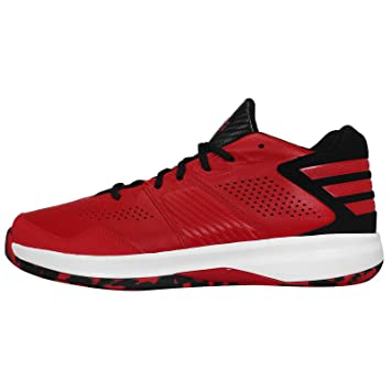 4a3e196a4c1 adidas Men s Crazy Isolation Basketball Shoes Red Red  Amazon.co.uk ...