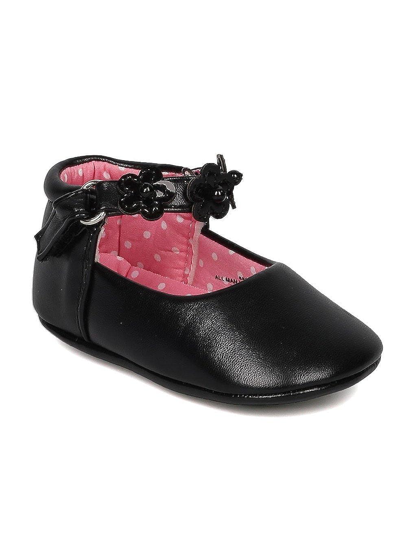 Girls Leatherette Daisy Ankle Strap Walker Bootie GE24