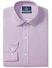 Men's Tailored Fit Spread-Collar Pattern Non-Iron Dress...