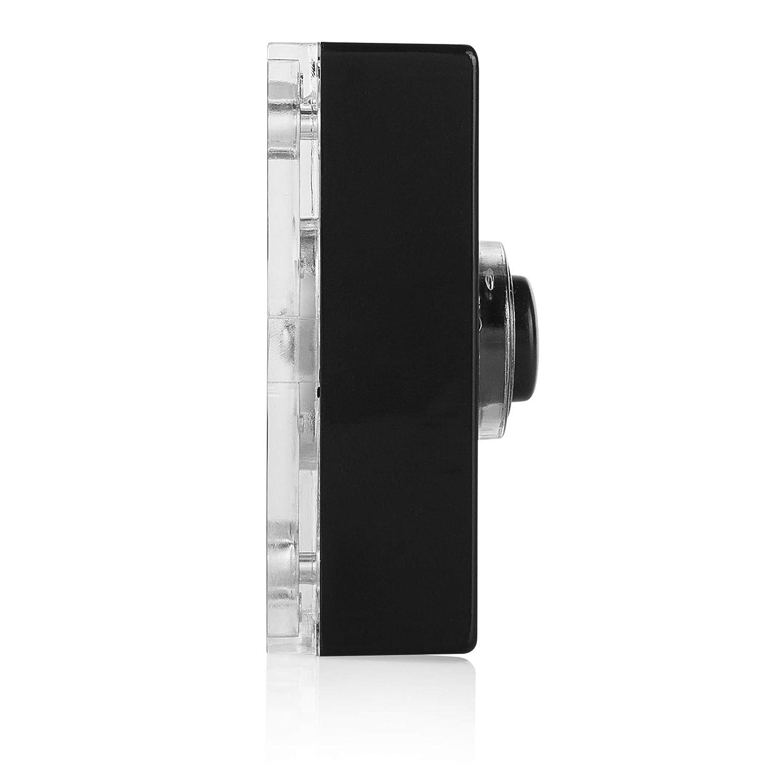 Illuminated push button Byron 7720 wired bell push Black