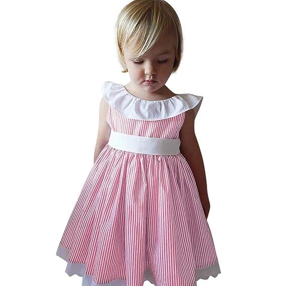 e60a8d5cd Mitlfuny Primavera Verano Ropa Niñas Bebé Princesa Vestidos de sin ...