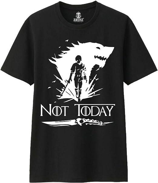 ARTIST Camiseta Not Today Logo Black Arya Stark Juego de Tronos Season 8: Amazon.es: Ropa y accesorios