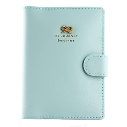 3c534f104c0e Travel Journey Passport ID Card Holder Case Cover Purse and Passport case  (Bows Baby Blue)