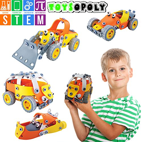 Toysopoly Stem Toys Kit 5 In 1 Build And Play Set Educational