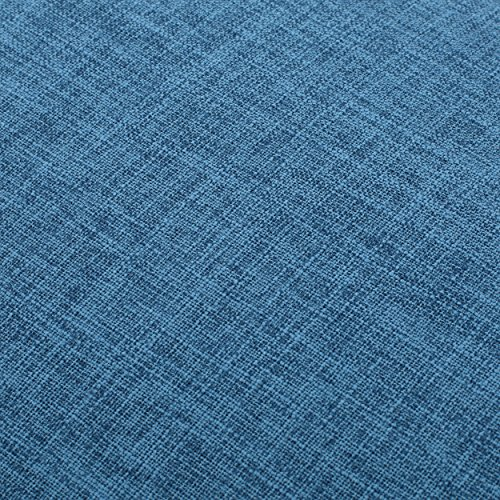 Dumont Mid Century Modern Fabric Ottoman (Blue) by GDF Studio (Image #4)