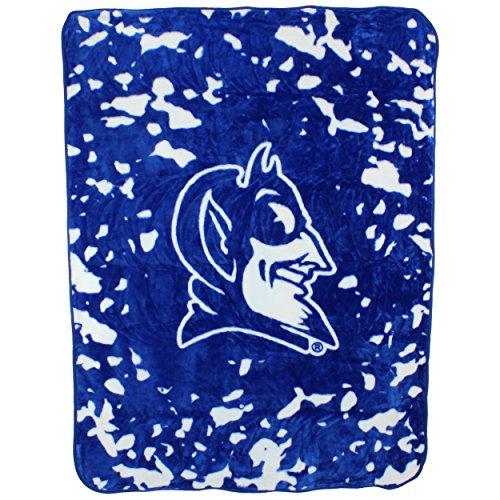 Devils Throw Blanket - College Covers Duke Blue Devils 63 x 86 Soft Raschel Plush Throw Blanket