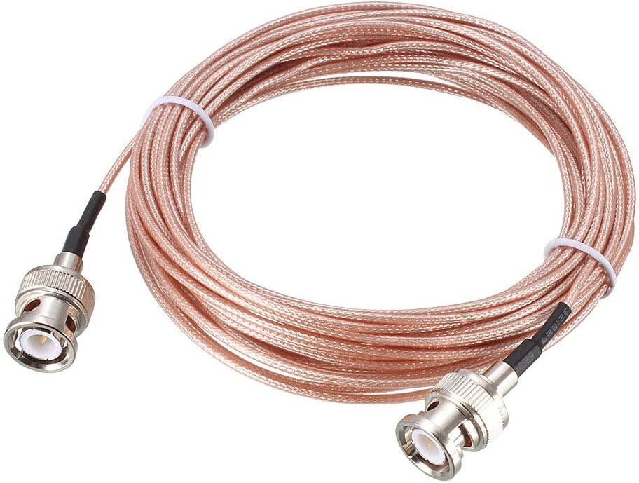 uxcell BNC Male to BNC Male Coax Cable RG178 Low Loss RF Coaxial Cable 25 ft