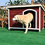 Petsfit 45.6 X 30.9 X 32.1 Inches Wooden Dog House, Dog House Outdoor
