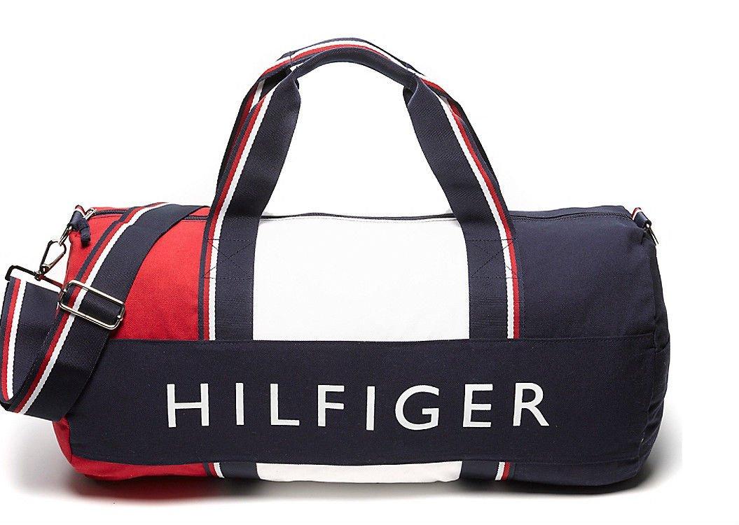 72c4413388 TOMMY HILFIGER SPORTTASCHE, REISETASCHE, LARGE DUFFLE BAG: Amazon.co.uk:  Luggage