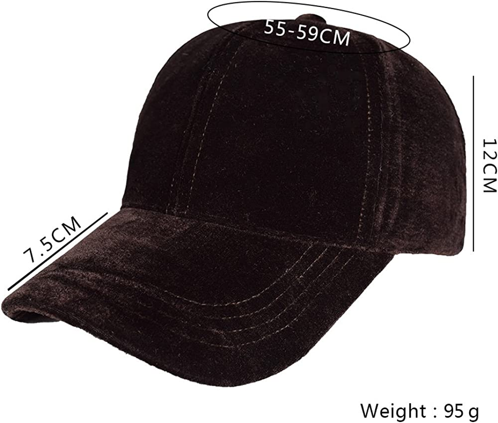 Dark navy Blue Crushed Velvet Adjustable Strapback Baseball Cap Hat NEW