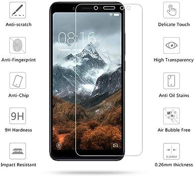 STCMW 3 Piezas Vidrio Templado para Xiaomi Redmi Note 5 Protector ...
