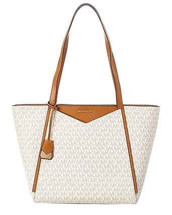 70327fc97354 Amazon.com  Michael Kors Whitney Ladies Large Logo Twill Tote Handbag  30S8GN1T3B150  Watches