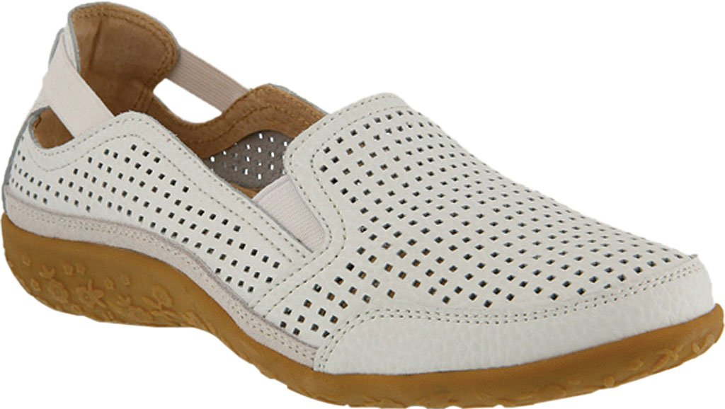 Spring Step Women's Juhi Perforated Slip On B06XQYZXL8 40 D EU / 9 D US Women|White Full Grain Leather