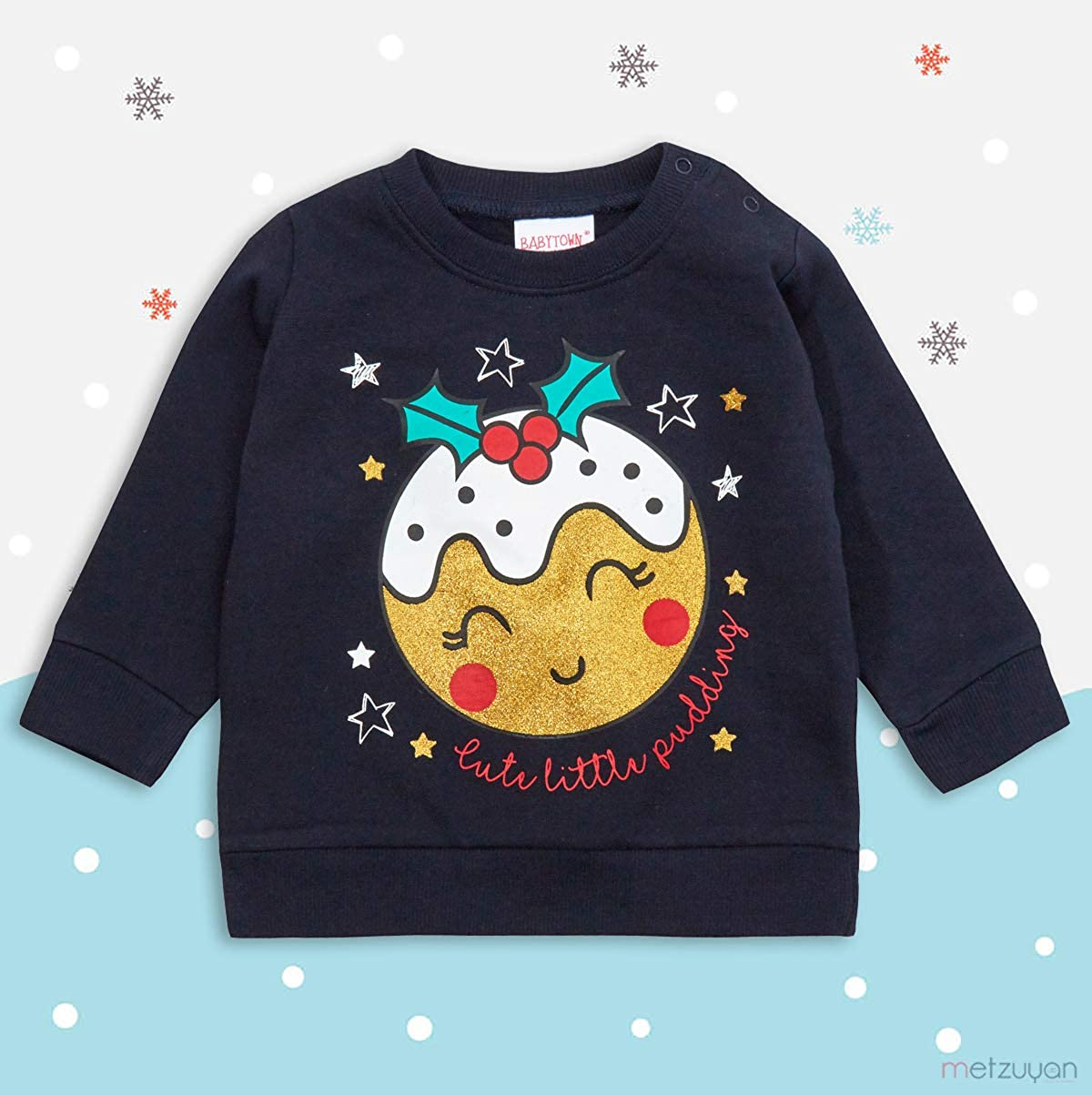 100/% Cotton Ideal for Winter BabyVip Warm Cotton Bodysuit for boy and Girl Button-Down Style