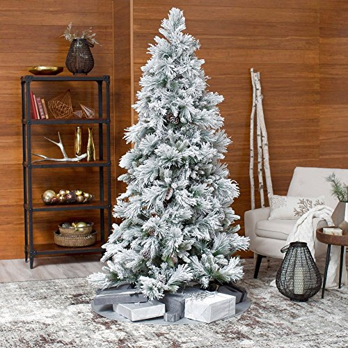Artificial Christmas Tree. Fake 7 Foot Xmas Green Spruce With Lush, Dense Foliage. Natural Pine Shape Looks Noble, Realistic & Festively. Great For Indoor & Outdoor Holiday Season Party Decor by Artificial-Christmas-Tree