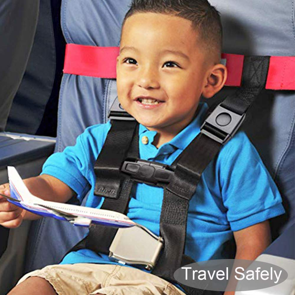 Seat Belt FAA Approved Aircraft Safety Travel Clip Strap Kids and Toddlers Restraint System with Pouch Bag- Strictly for Aviation Travel Only Baby Child Airplane Travel Harness by TEMEAYE