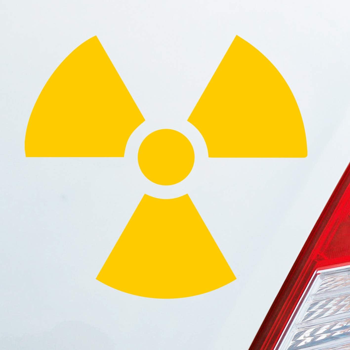 Auto Aufkleber In Deiner Wunschfarbe Atom Radioaktivität Atomkraft Nuklear Jdm 10x10cm Autoaufkleber Sticker Folie Auto