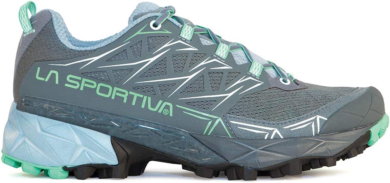 La Sportiva Akyra - Zapatillas de running para mujer, color verde jade, 43: Amazon.es: Deportes y aire libre