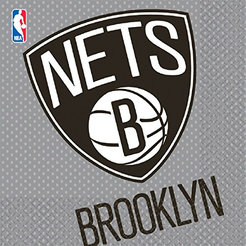 Amscan Sports and Tailgating Nba Brooklyn Nets Luncheon Childrens-Party-Napkins, 96 Pieces