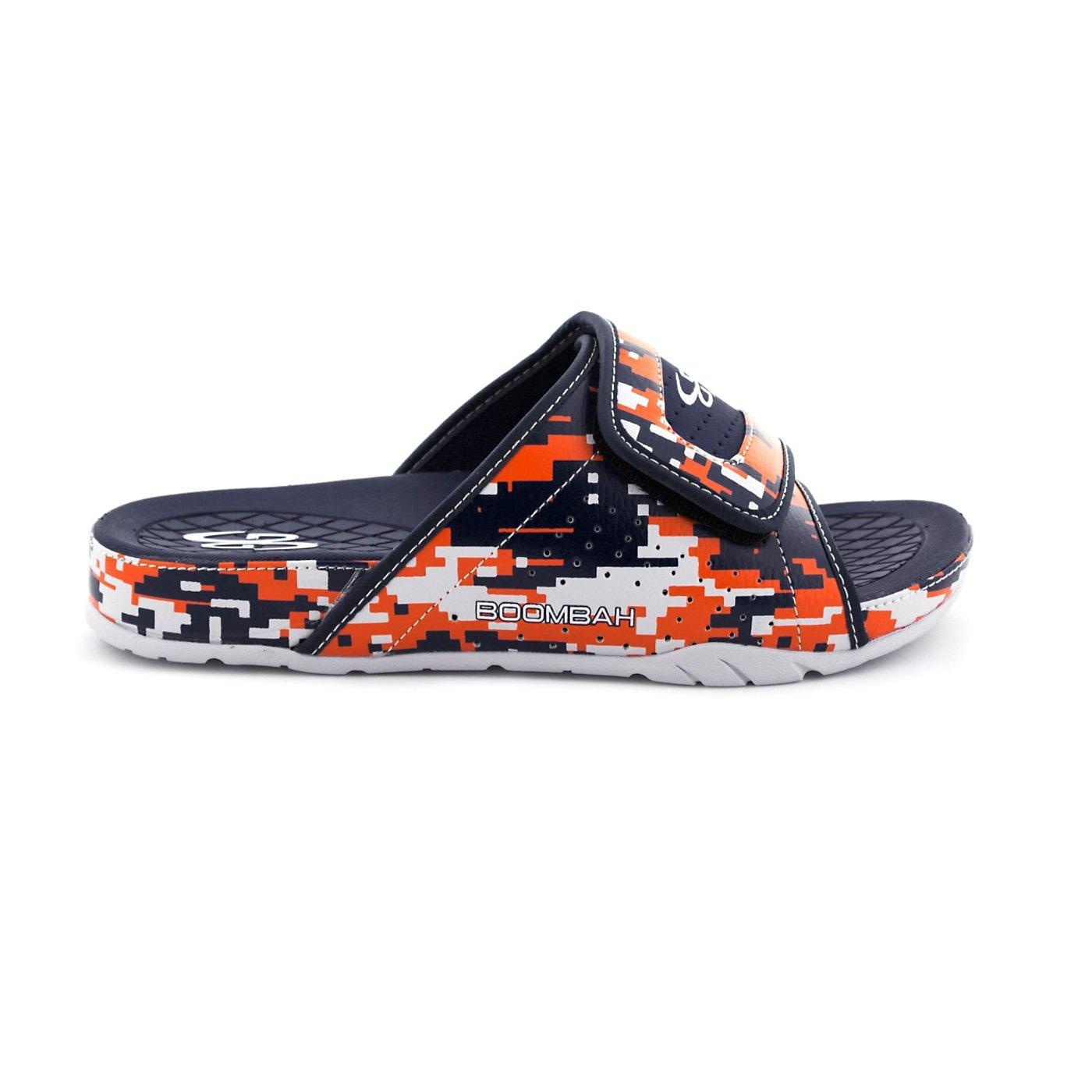Boombah Men's Tyrant Digital Camo Slide Sandals - 11 Color Options - Multiple Sizes B077NK2R4C 4|Navy/Orange