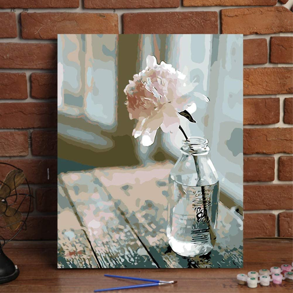 Without Frame, XRS776 KXCFCYS New Arrival DIY Oil Painting by Numbers Kit Theme PBN Kit for Adults Girls Kids White Christmas Decor Decorations Gifts