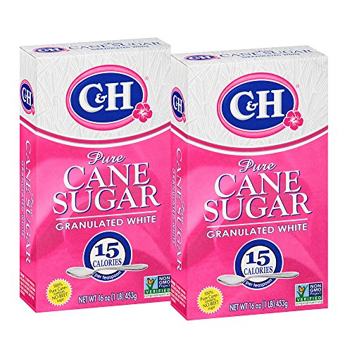 (C&H Pure Cane Granulated White Sugar, 1 lb (Pack of 2))