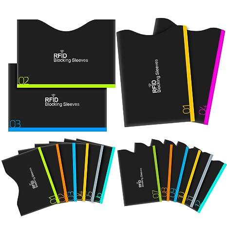 fc9bc101abddc1 Protezione RFID, Aerb 16-Pack RFID blocco carta di Credito/Debito e  protezione