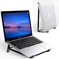 Supmega - Soporte vertical para computadora portátil de computadora, diseño 2 en 1, compatible con MacBook Air Pro…