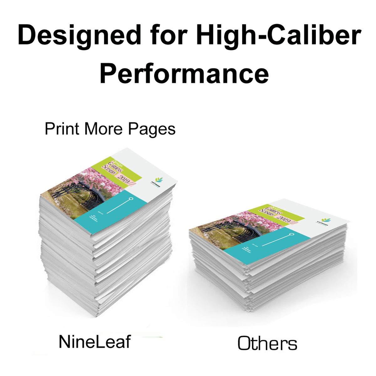 Pack de 2 cartuchos de tinta Nineleaf 62XL 62 XL recubiertos HP ...