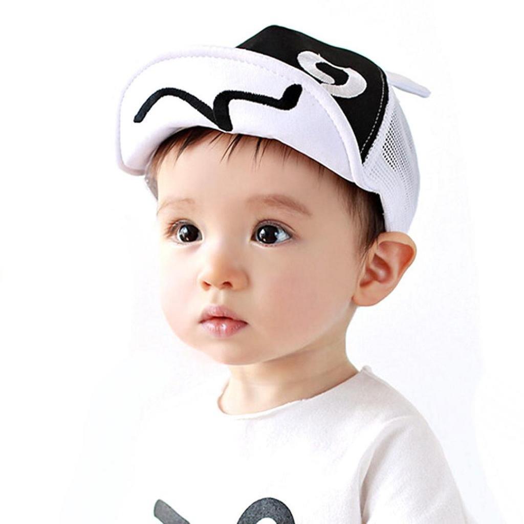 SHOBDW Boys Hats, Children Cusual Hat Summer Mesh Soft Brim Flanging Sun Hat Baseball Cap