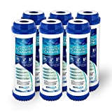 Ronaqua Granular Activated Carbon Water Filter Cartridge by (6 Pack)