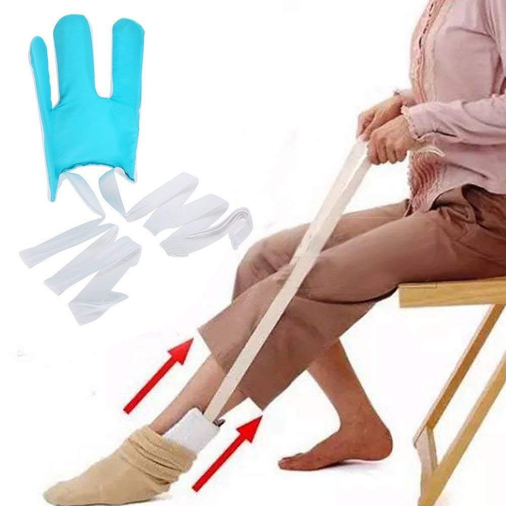 Sock Aid Sock Slider Easy On Easy Off Put on Your Sock Without Bending for Seniors, Disabled, Pregnant Women Flexible Deluxe Compression Socks Stockings