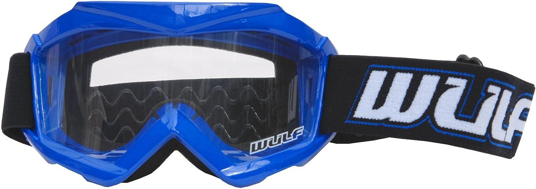 + Cub Goggles 51-52cm Wulfsport Kids Off Road Pro Motocross Helmet Blue Kids Race Suit XL 7cm 11-12Yrs /& Wulf Stratos Gloves XS